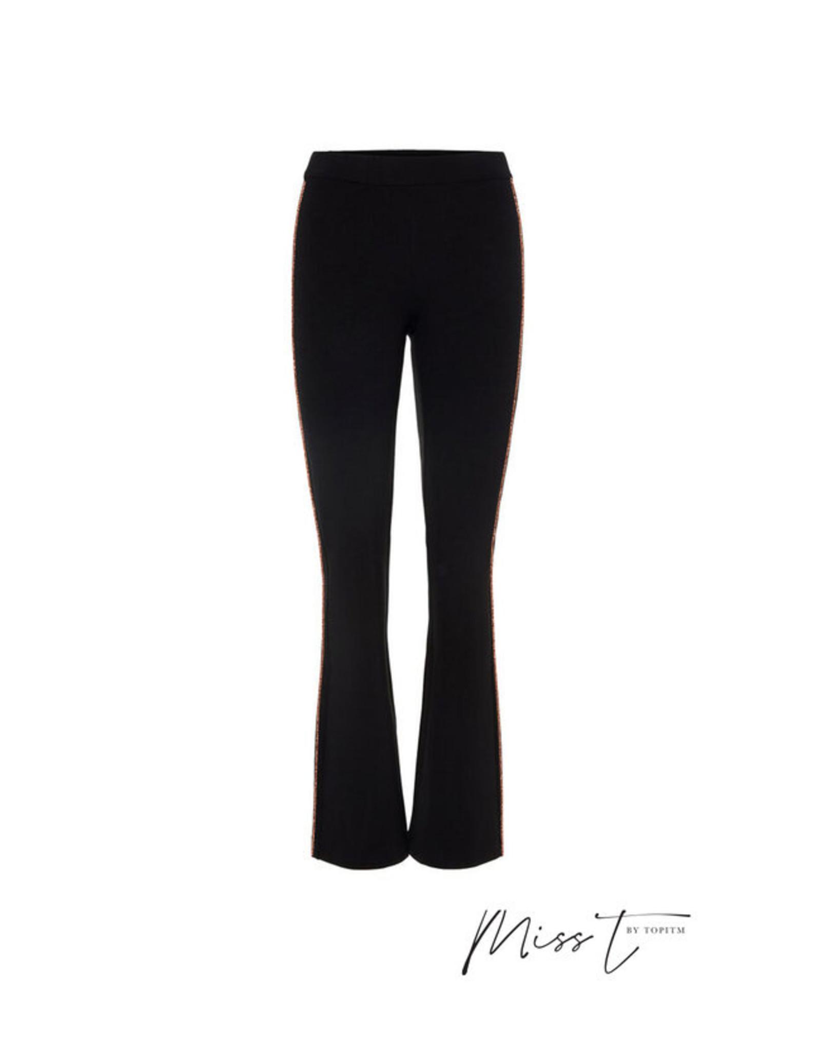 Topitm Miss T Joke flare pants black