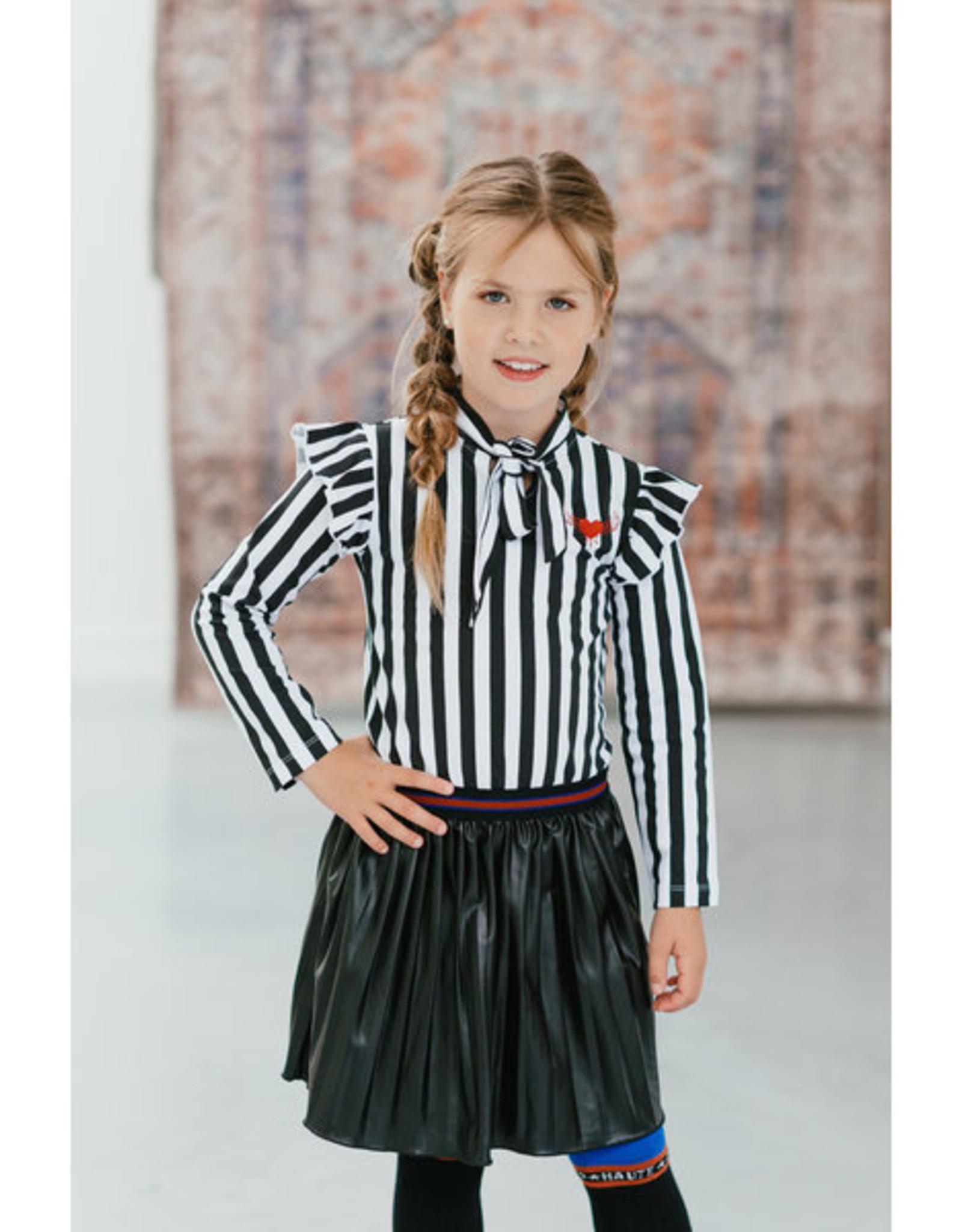 Topitm TOPitm dress Misty stripe/leather