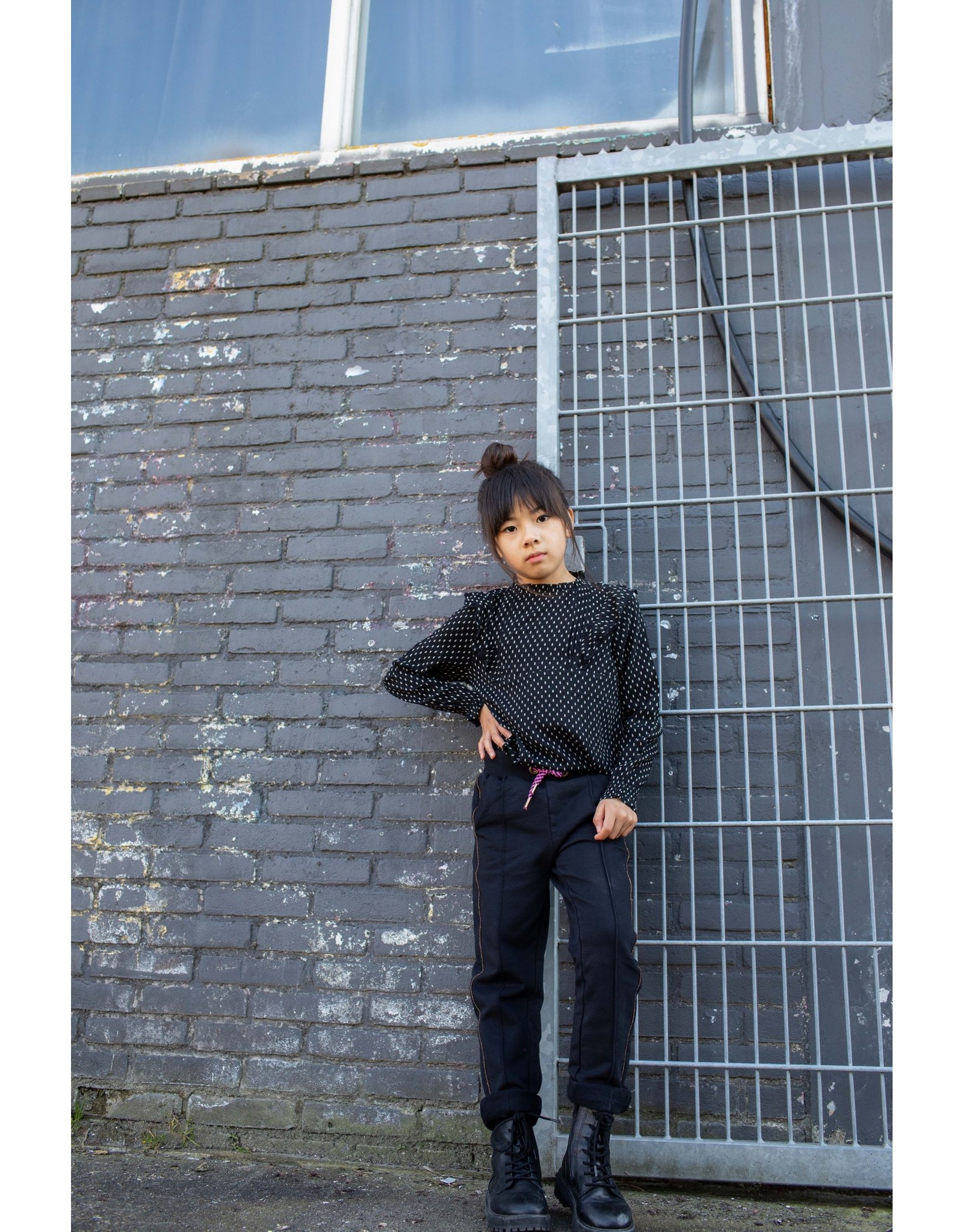 Quapi Quapi blouse Keisha black arrow