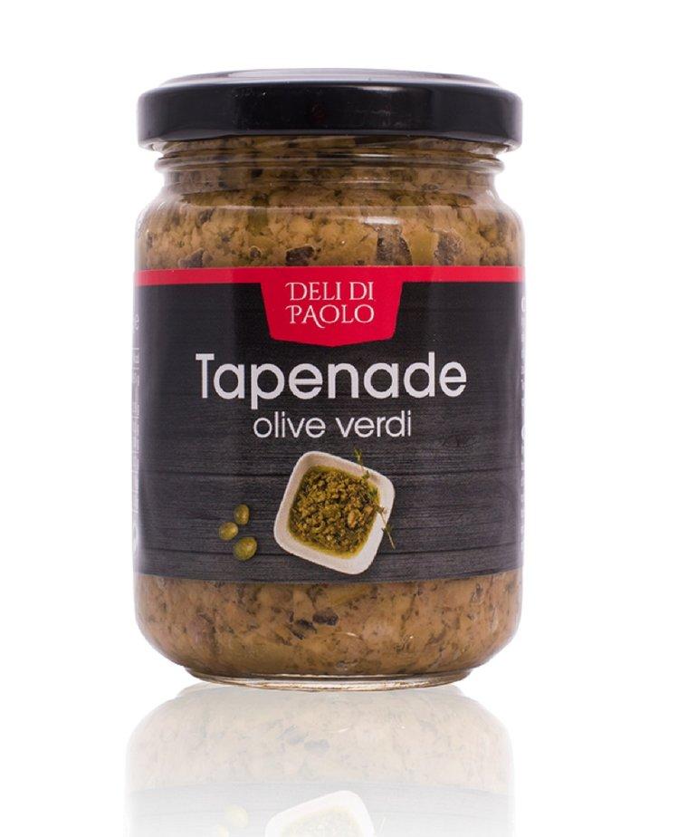 Deli Di Paolo Tapenade groene olijven 140g Deli di Paolo