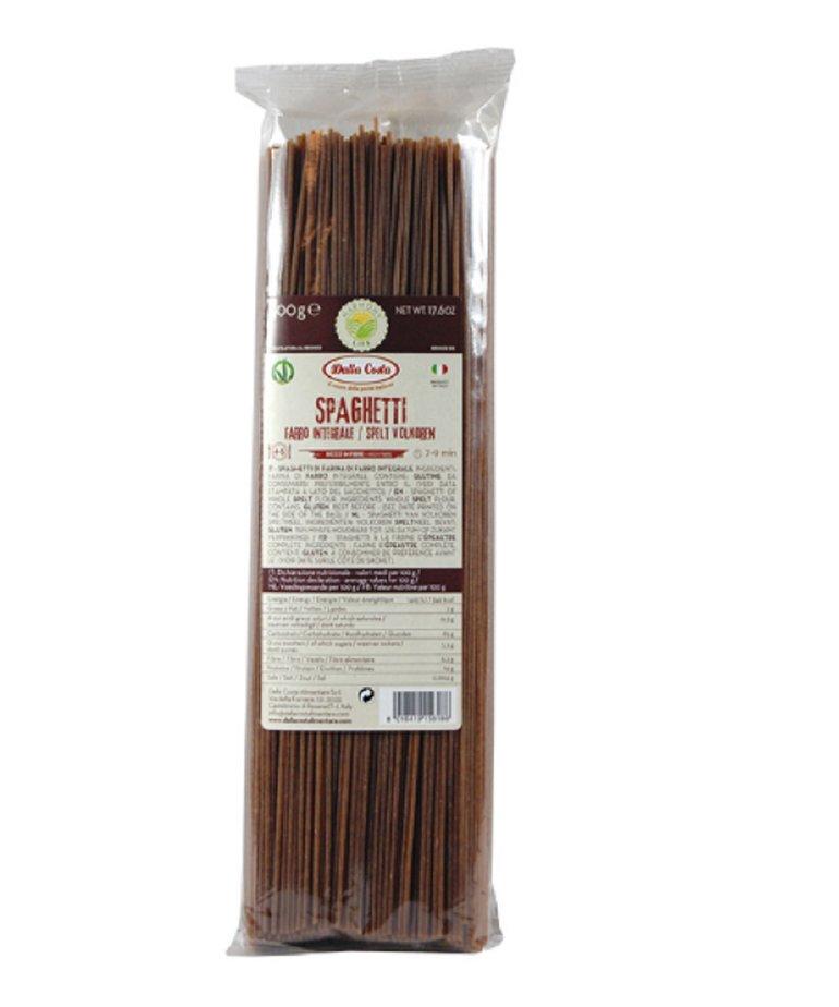 Spaghetti spelt pasta volkoren 500g Dalla Costa