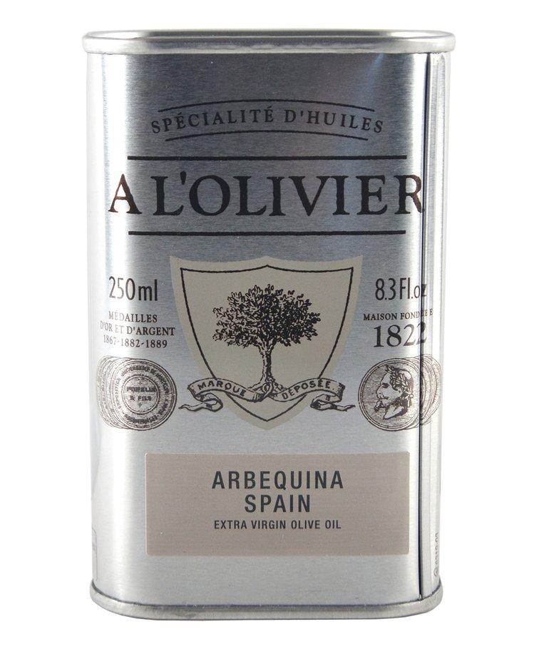 Olijfolie extra vergine Arbequina Spanje 250ml A L'Olivier