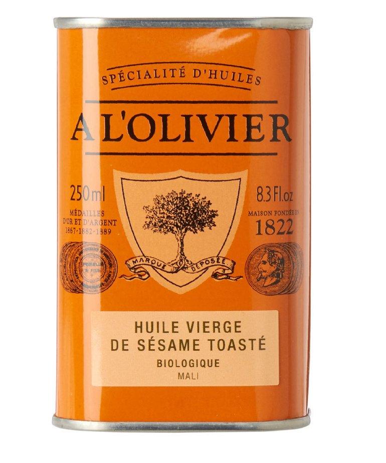 Biologische geroosterde sesam olie 250ml A L'Olivier