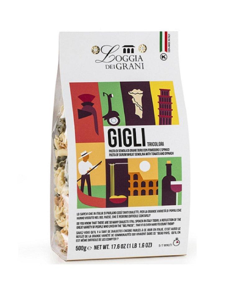 Gigli pasta 3 kleuren 500g Loggia dei Grani