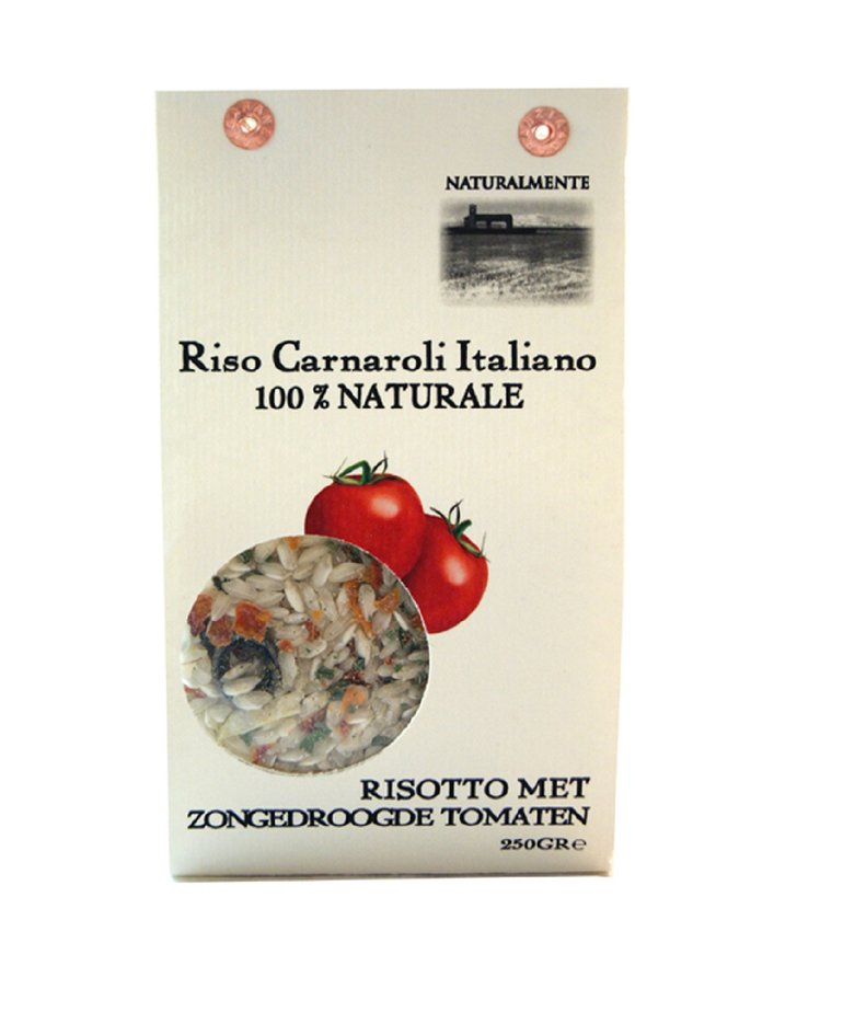 Rijst risotto zongedroogde tomaat 250g Naturalmente