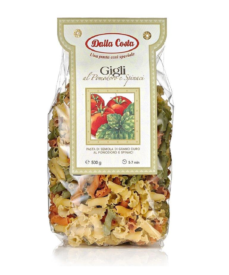 Gigli pasta tomaat spinazie 500g Dalla Costa