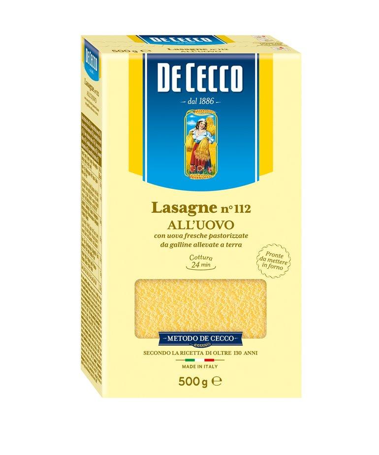 Lasagne eierpasta no.112 500g De Cecco