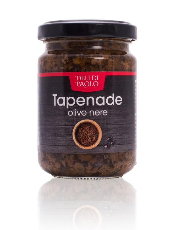Deli Di Paolo Tapenade zwarte olijf 140g Deli Di Paolo