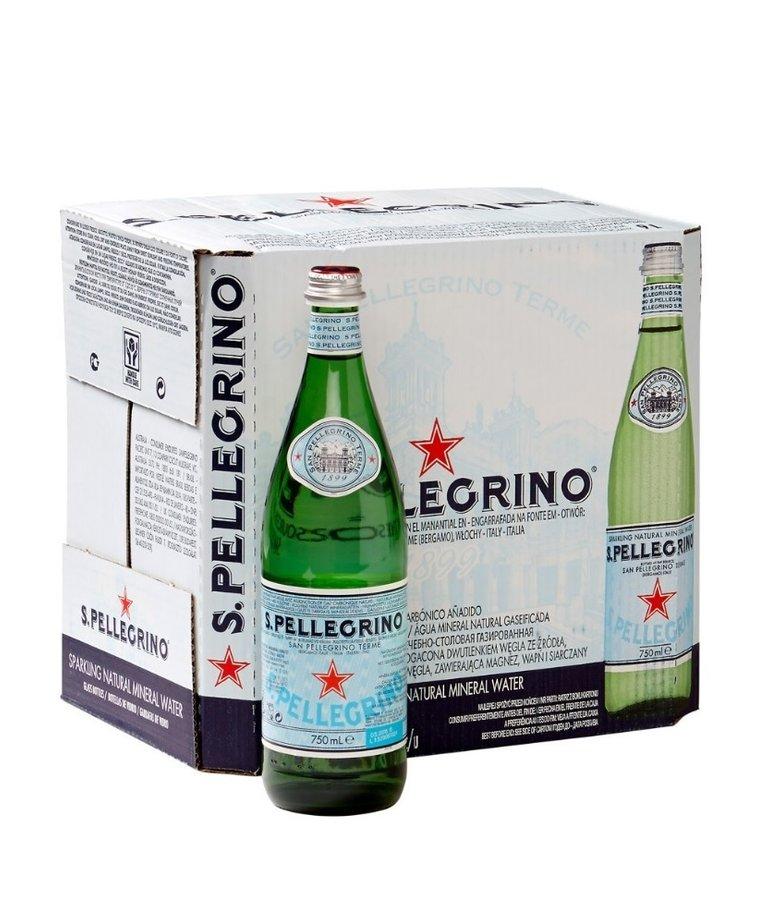 San Pellegrino Bruisend mineraalwater 75cl San Pellegrino (per doos/ 12 flessen)