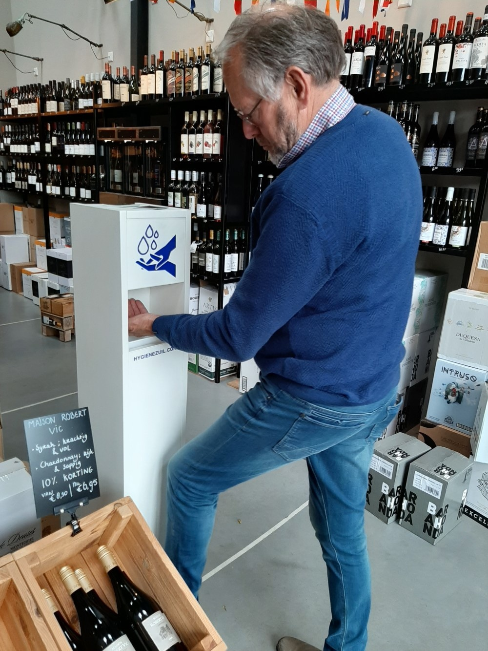 Hygienezuil in Wijnwinkel Barneveld