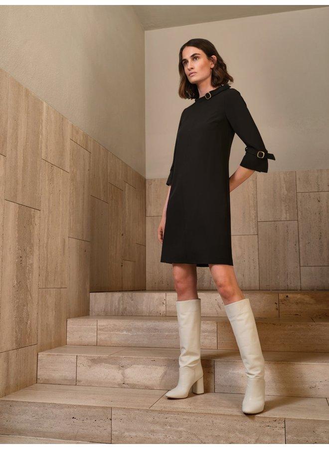 Mace black dress