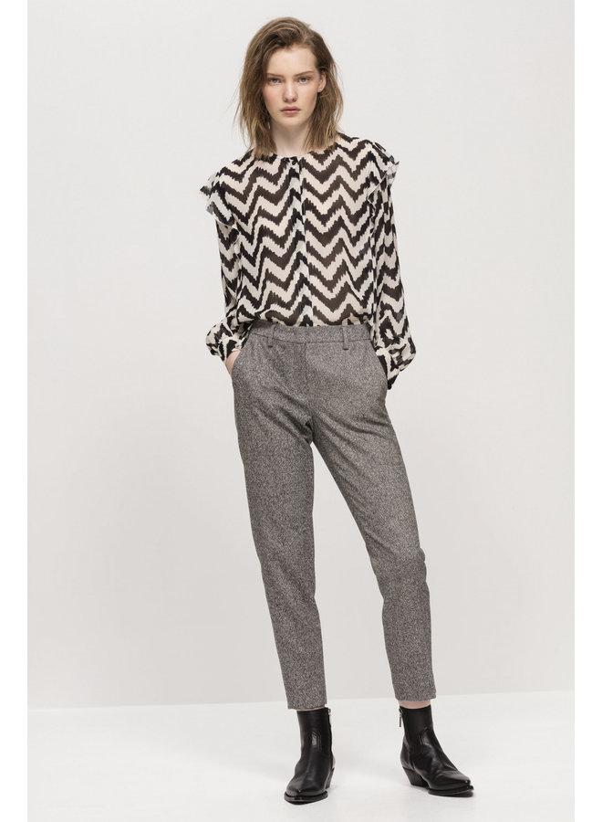 Luisa Cerano slim-fit tweed trousers