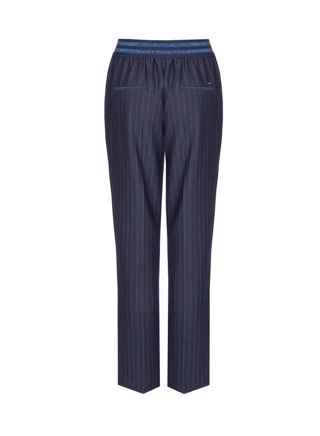 Terre Bleue - navy blauwe gestreepte broek