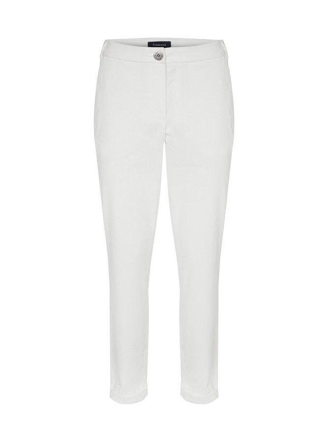 Terre Bleue - witte broek in fijn ribfluweel