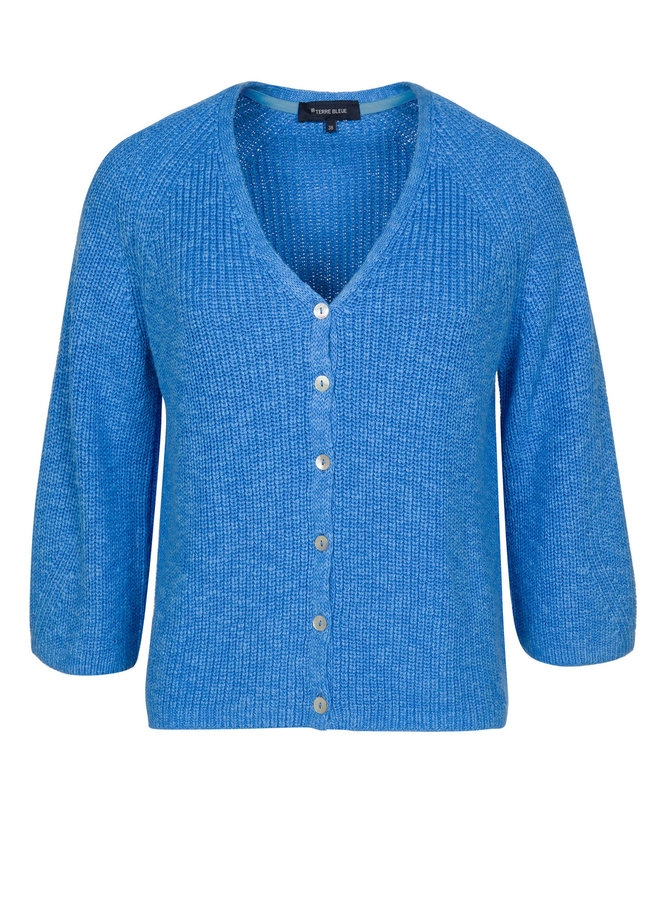 Terre Bleue - blauwe cardigan