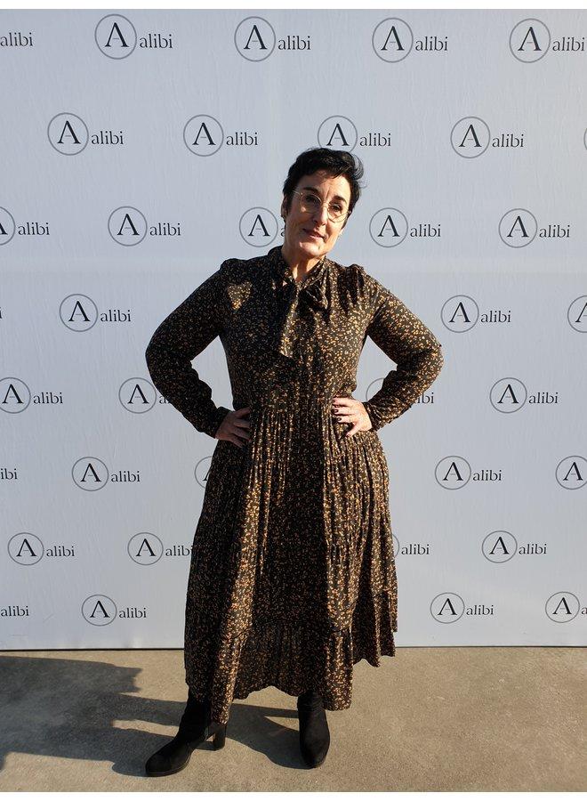 Marie Méro kleed/ zwart goud