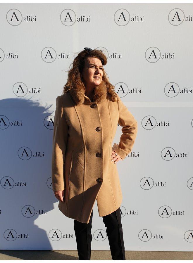 Barbara Lebek - mantel/camel