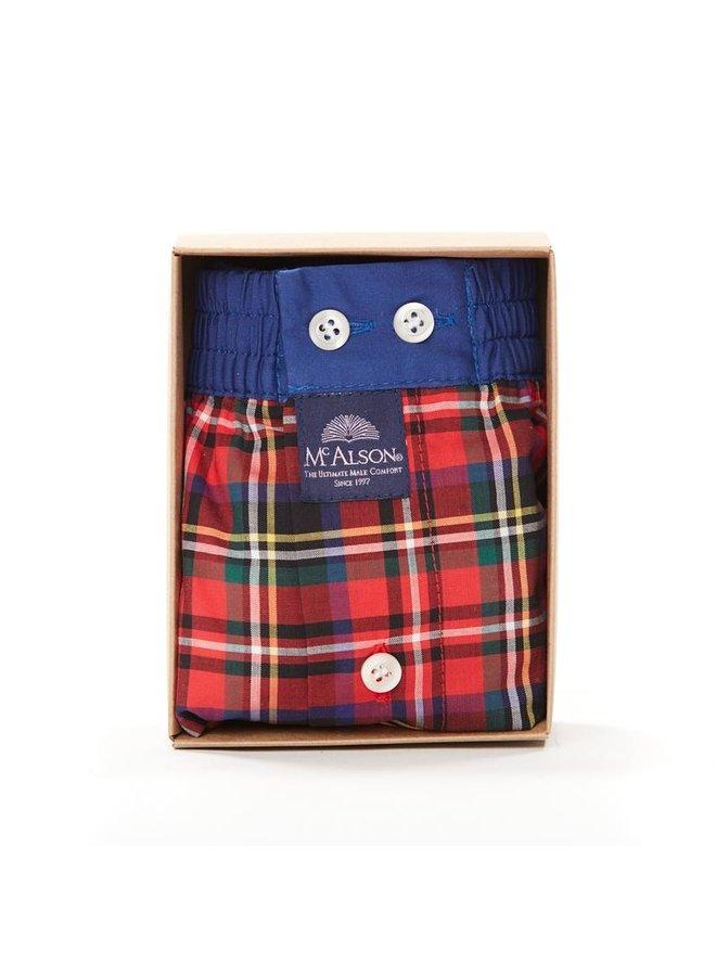 Mcalson boxer rood/groen/blauw