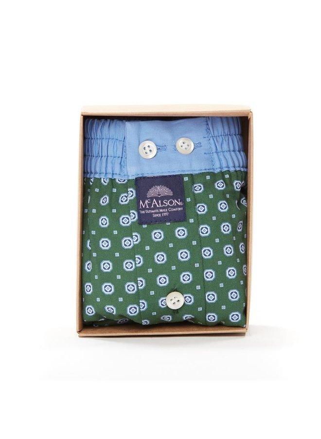 Mcalson boxer groen/blauw