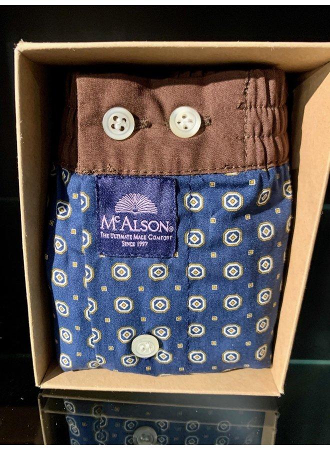 Mcalson boxer blauw/bruin