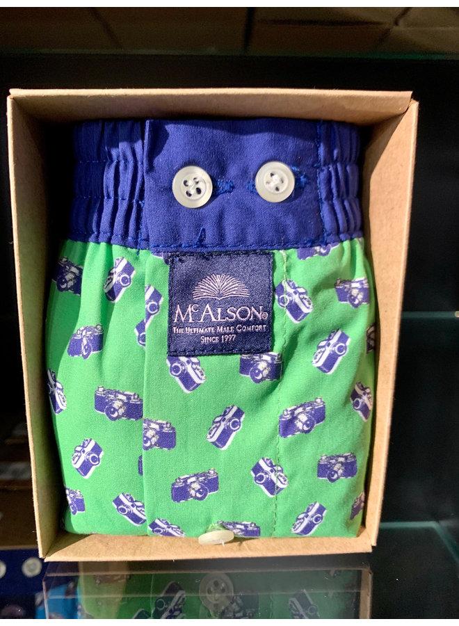 Mcalson boxer blauw/groen
