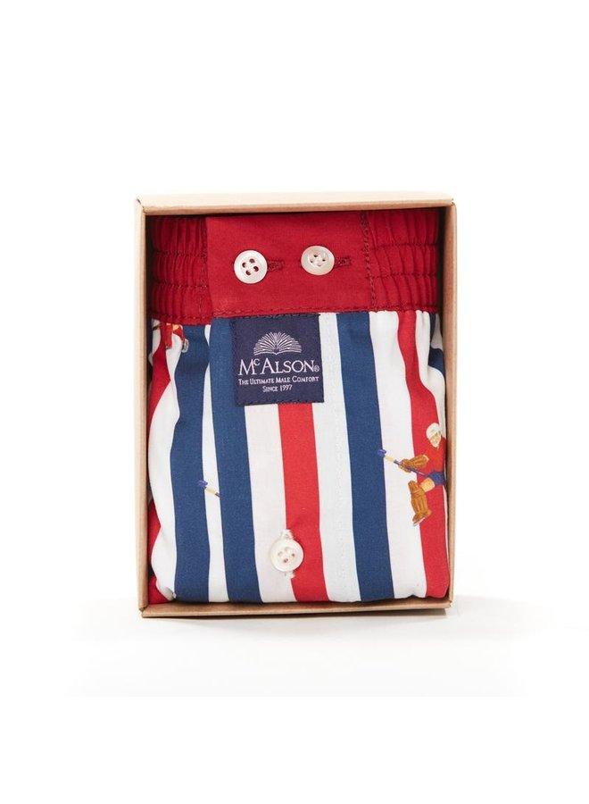 Mcalson boxer blauw/rood