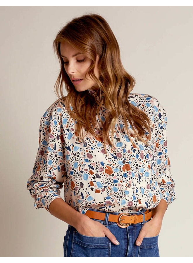 River Woods - Loszittende blouse in viscose
