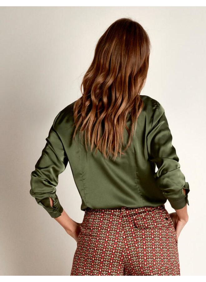 River Woods - Klassieke blouse in satijn