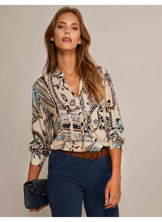 River Woods - Popoverblouse in viscose