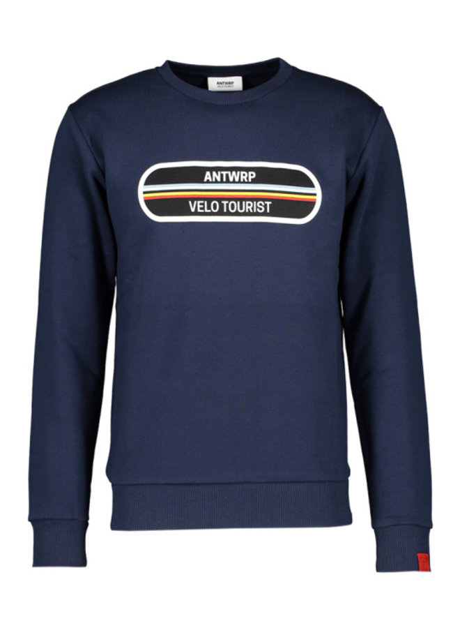 "Antwrp - navy sweater ""velo tourist"""