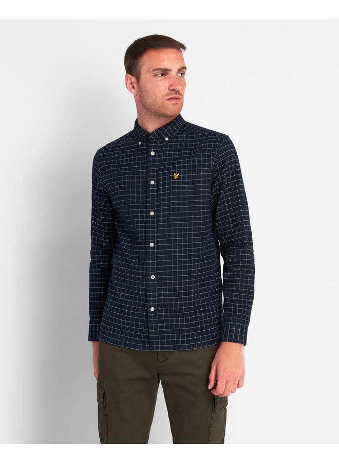 Lyle & Scott - Grid Check Shirt dark navy