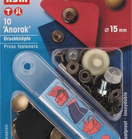 Prym Prym 390.299 - Anorak drukknopen - 15mm - Brons