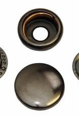 Anorak drukknopen - 15mm - Gunmetal