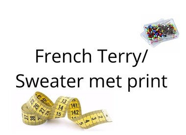 French terry/Sweat met print