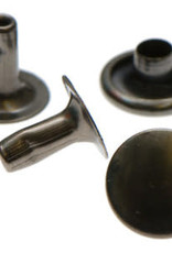 Holnieten 9mm - Gunmetal - 10 stuks