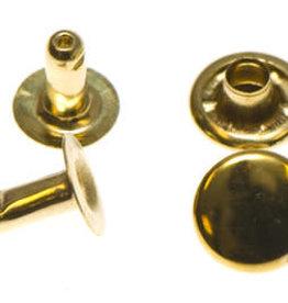 Holnieten 9mm - Goud - 10 stuks