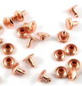 Holnieten 9mm - Rosé - 10 stuks - DUBBELE KOP