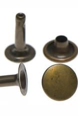 Holnieten 9mm - Brons - 10 stuks - LANGE PIN