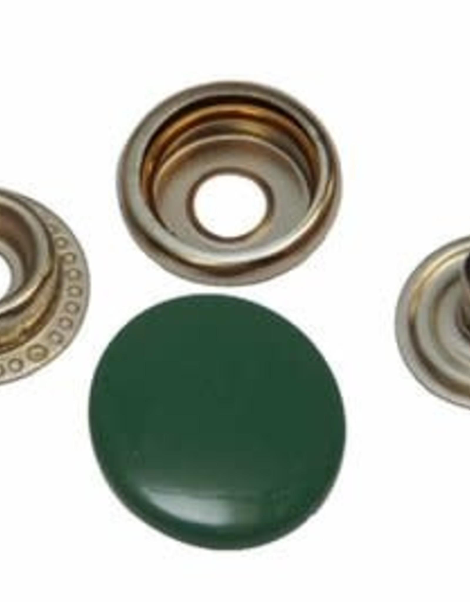 Anorak drukknopen - 15mm - 25 stuks - Groen