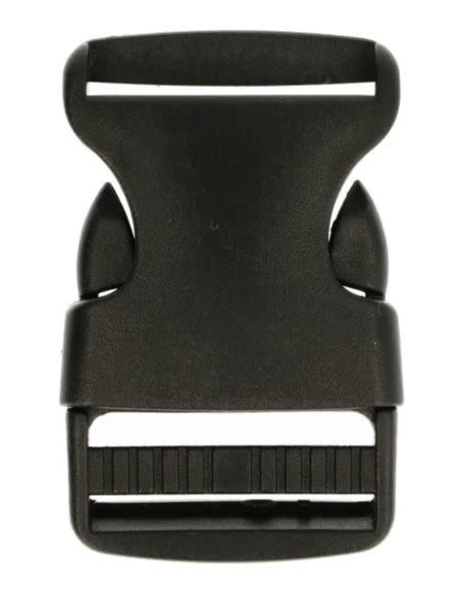 Klikgesp 30mm - Zwart