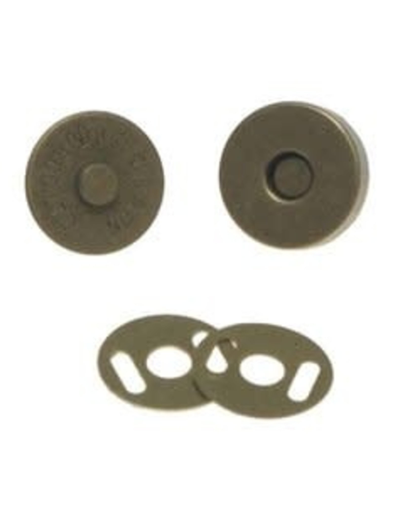 Magneetsluiting 14mm - Brons
