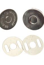 Magneetsluiting 18mm - Zilver - EXTRA PLAT