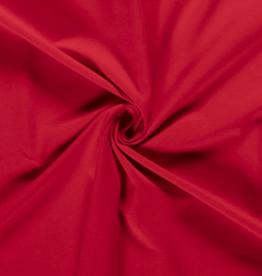 Katoentricot - Rood