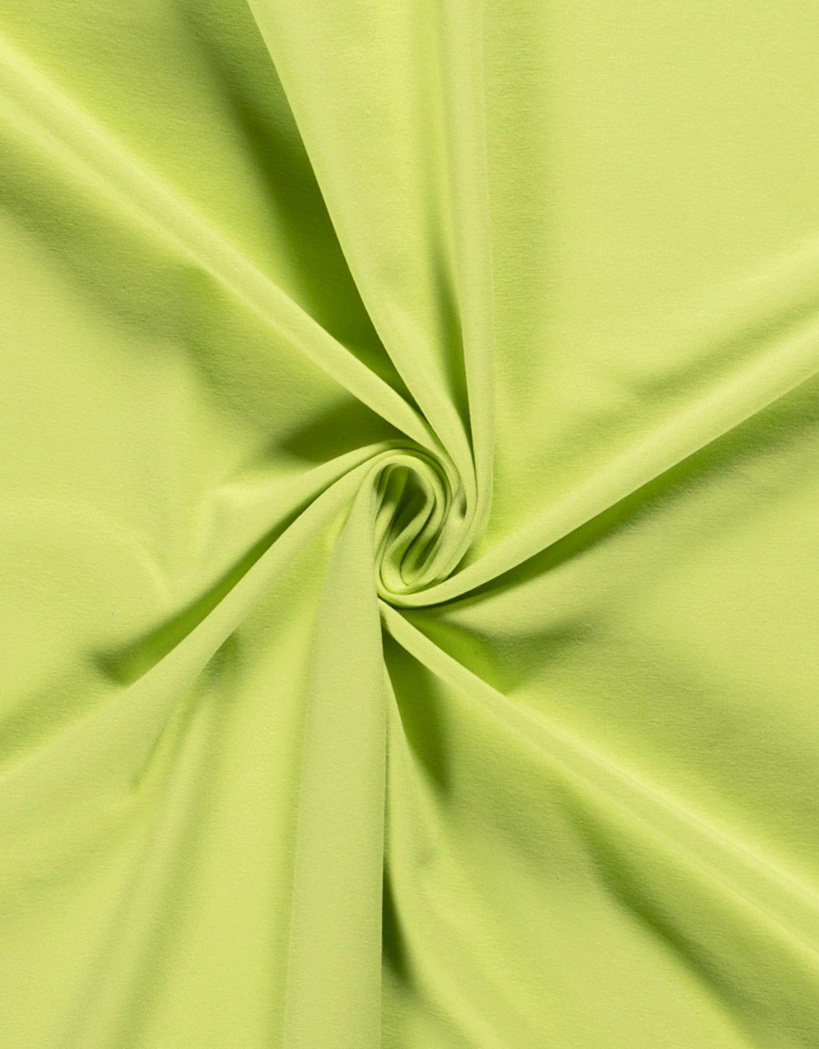 Katoentricot - Lime