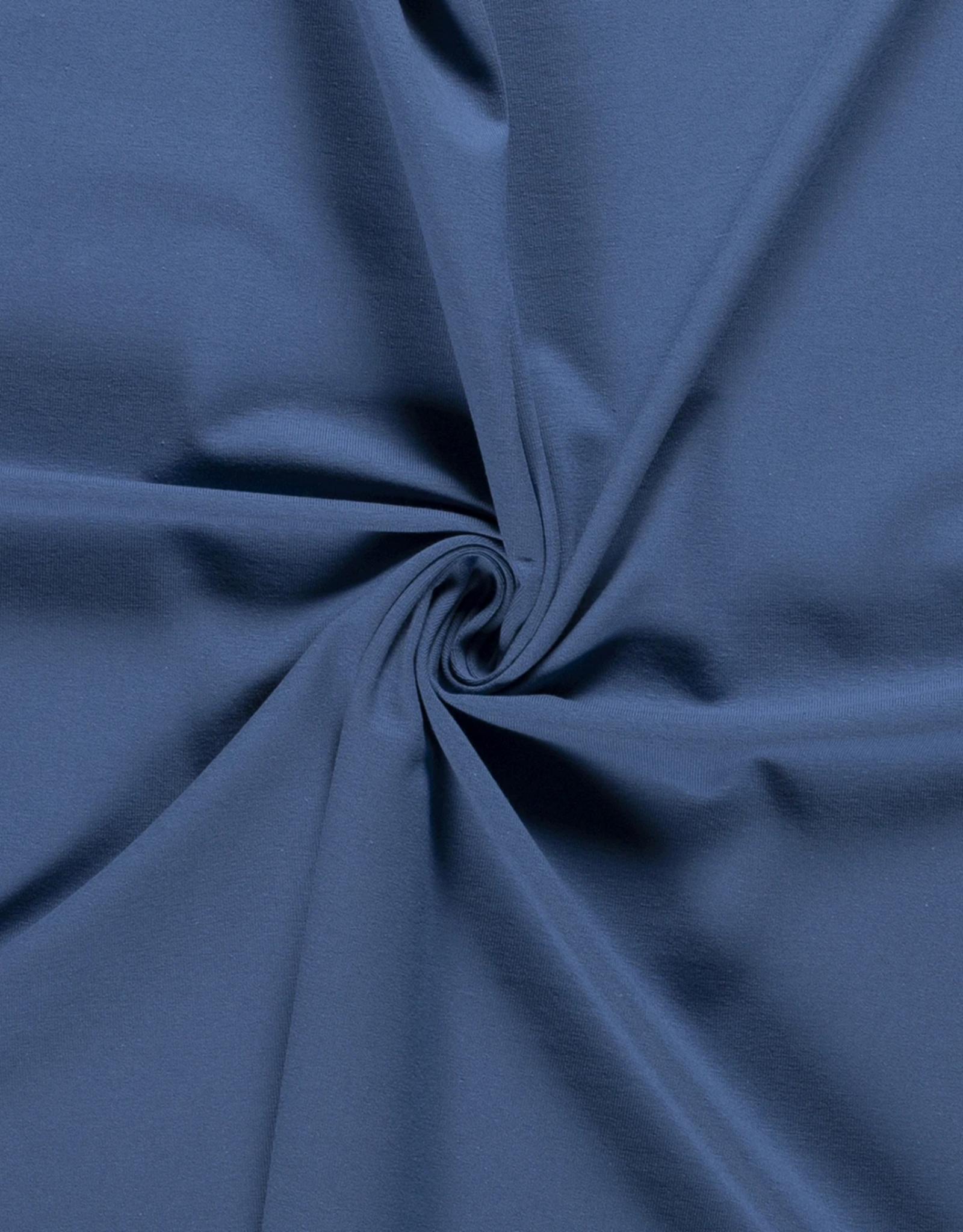 Katoentricot - Jeansblauw