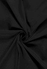 Katoentricot - Zwart