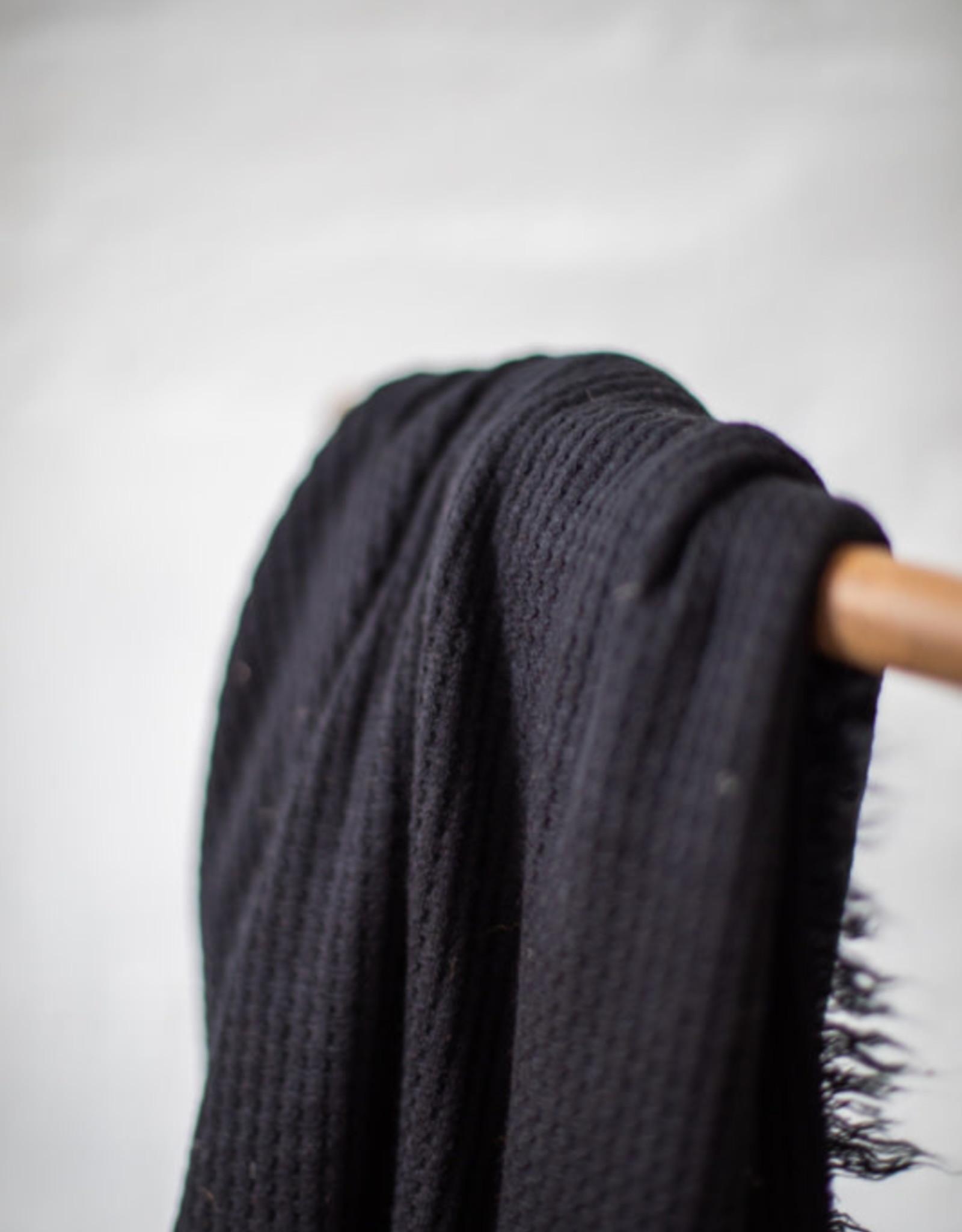 Mind The Maker Mind The Maker - Waffle Knit - Black
