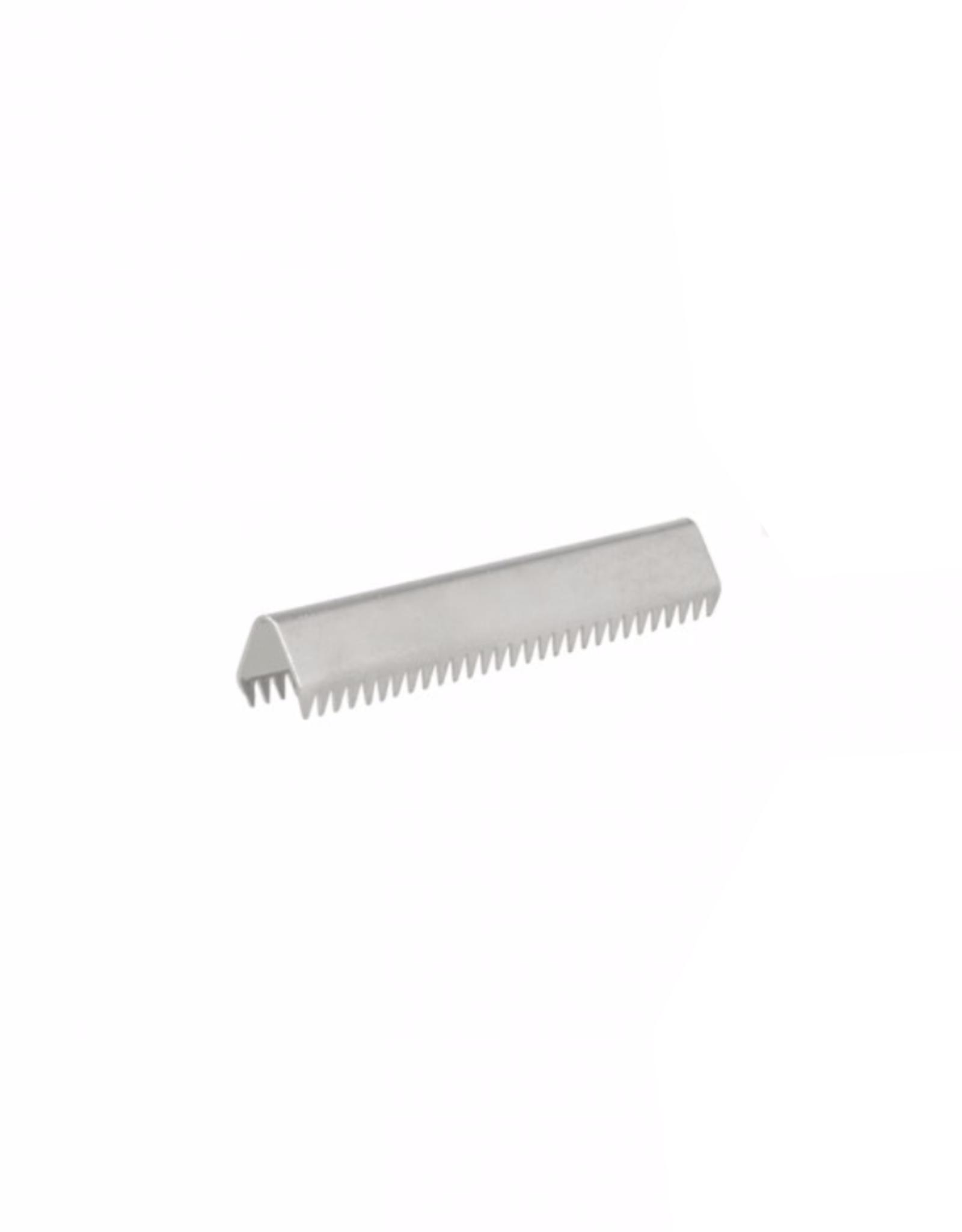 Eindje voor tassenband - 25mm - Zilver