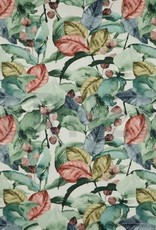 Deco - Leaves - Old Rose/Green/Blue