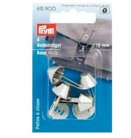 Prym Prym 615.900 - Tasvoetjes 15mm - Zilver
